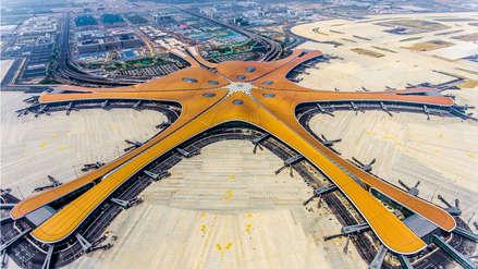 China: Así es el gigantesco aeropuerto en forma de estrella de mar inaugurado en Pekín