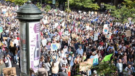 Greta Thunberg lidera gran manifestación contra el cambio climático en Canadá [Fotos]