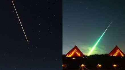 ¡Impresionante! Dos objetos ingresan en simultáneo en la atmósfera terrestre e iluminan el cielo ruso