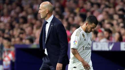 Zinedine Zidane defendió a Eden Hazard tras su mal partido ante Atlético de Madrid