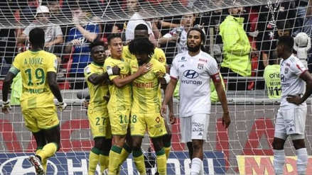 Con Cristian Benavente, Nantes venció 1-0 a Olympique de Lyon por la fecha 8 de la Ligue 1