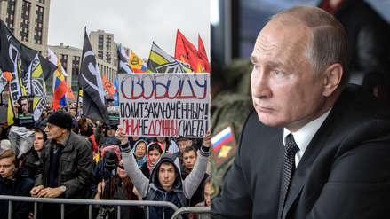 Rusia: Miles de opositores de Vladimir Putin marchan para demandar la liberación de presos políticos
