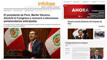 Así reaccionó el mundo por el cierre del Congreso peruano dispuesto por Martín Vizcarra