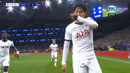 Tottenham aprovechó error en salida del Bayern Munich y lo transformó en un gol de Heung-Min Son