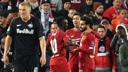 ¡Sufrió el campeón! Liverpool venció 4-3 a RB Salzburgo por el grupo E de la Champions League
