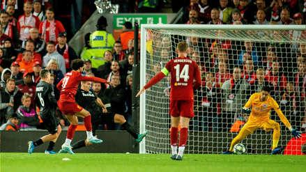 ¡Siempre goleador! Mohamed Salah anotó el tercer gol de Liverpool ante RB Salzburgo por la Champions