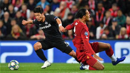 ¡Dejó en el césped a Van Dijk! Hwang Hee-Chan anotó el primer gol de RB Salzburgo ante Liverpool