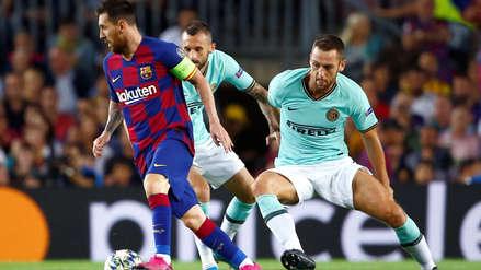 Lionel Messi y su reacción ante el gol de Lautaro Martínez en el Barcelona vs. Inter de Milán por la Champions League