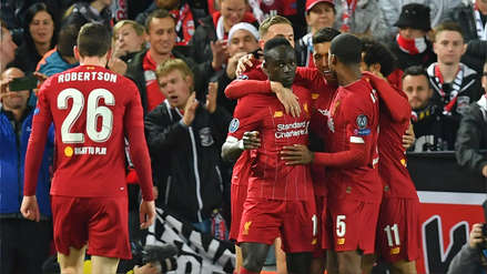 ¡A los 9 minutos! Sadio Mané marcó el primer gol del partido entre Liverpool y RB Salzburgo