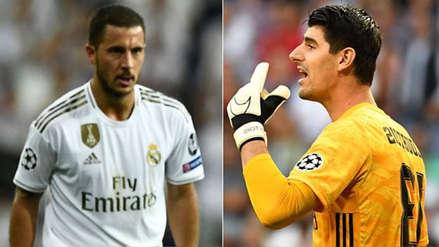 Hinchas del Real Madrid criticaron duramente a Hazard y Courtois tras empate en la Champions League