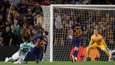 Inter de Milán madrugó a Barcelona con gran definición de Lautaro Martínez