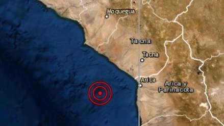 Un sismo de magnitud 5.0 sacudió esta noche Tacna
