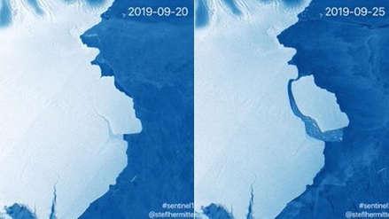 Un gigantesco iceberg del tamaño de la mitad de Lima Metropolitana se desprendió de la Antártida