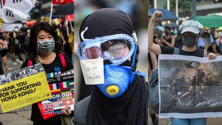 Hong Kong prohíbe el uso de máscaras en las manifestaciones antigubernamentales