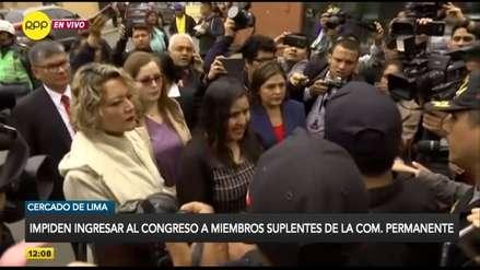 Suplentes de la Comisión Permanente acusan al Gobierno de ordenar que no ingresen al Congreso [VIDEO]