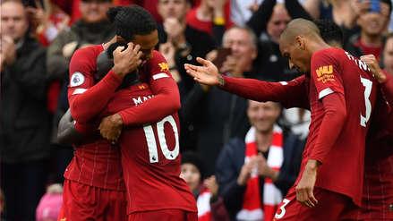 ¡Imparable! Sadio Mané anotó el primer gol de Liverpool en el partido ante Leicester por la Premier League