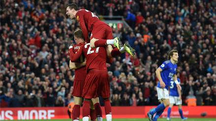¡Casi pierde la racha! Liverpool venció 2-1 a Leicester City por la jornada 8 de la Premier League