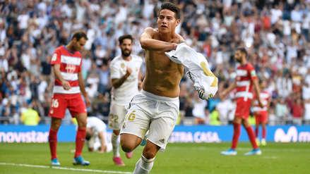 ¡Selló la victoria! James Rodríguez anotó el cuarto gol de Real Madrid ante Granada por LaLiga