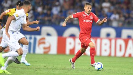 Con Paolo Guerrero, Inter de Porto Alegre empató 1-1 con Cruzeiro por el Brasileirao