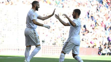 ¡A los dos minutos! Karim Benzema anotó un golazo para Real Madrid ante Granada por LaLiga