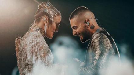 """Maluma y Jennifer Lopez se unieron por el tema """"No me ames"""": Así fue su increíble presentación"""