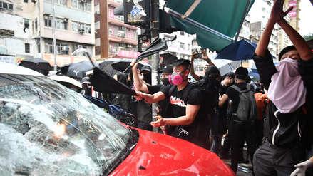 Violencia en Hong Kong: Manifestantes desafían la ley usando máscaras durante protestas
