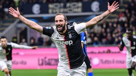 ¡Lo sentenció el 'Pipita'! Gonzalo Higuaín anotó el gol del triunfo de Juventus ante Inter de Milán