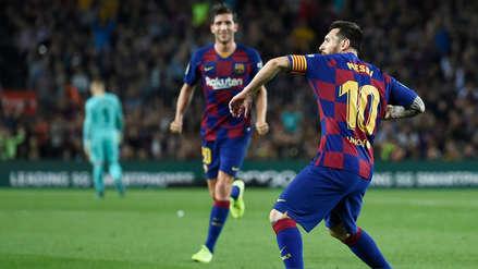 ¡Su primero en LaLiga! Lionel Messi anotó un golazo de tiro libre para Barcelona ante Sevilla