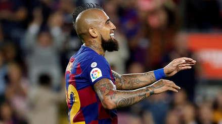 Arturo Vidal tras su gol y la victoria de Barcelona: