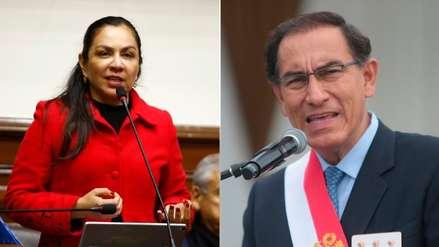 Marisol Espinoza presentó demanda de acción amparo contra Vizcarra para revocar disolución del Congreso