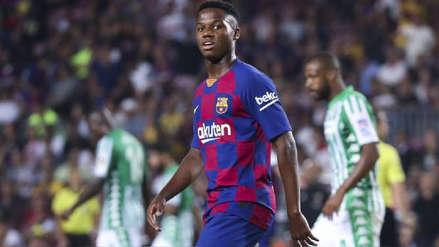 En Barcelona cuentan que Ansu Fati 'tiene problemas para seguir el ritmo de las prácticas y partidos'