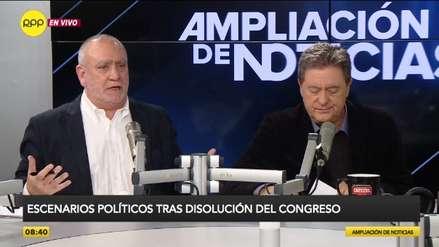 Augusto Álvarez Rodrich y Jaime de Althaus tuvieron picante debate sobre la disolución del Congreso