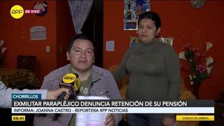 Militar que quedó parapléjico durante sus labores denuncia retención de su pensión