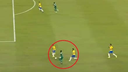 ¡Brillante! Sadio Mané burló la marca de Dani Alves y Marquinhos y provocó el penal de Senegal ante Brasil