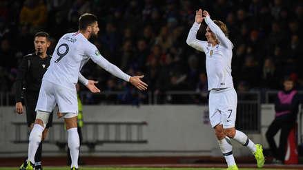 ¡Con gran definición! Olivier Giroud abrió el marcador a favor de Francia ante Islandia desde los doce pasos