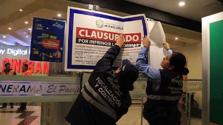 El cine El Pacífico fue clausurado por la Municipalidad de Miraflores