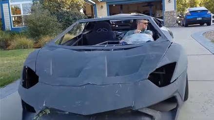"""""""¿Podemos construir uno?"""": Padre hizo un Lamborghini para su hijo con una impresora 3D… y se puede conducir"""
