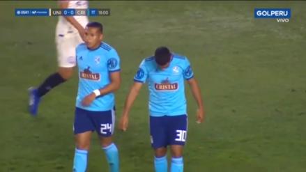 ¡Casi abre el marcador! Cristian Palacios por poco pone el 1-0 en el Universitario vs. Sporting Cristal