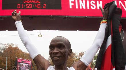 Eliud Kipchoge hizo historia: primer hombre en completar un maratón en menos de dos horas