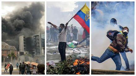 ¡Quito fuera de control! : 15 fotos de las quemas y ataques a la Contraloría y medios de comunicación