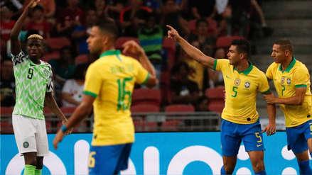 Casemiro anotó el 1-1 en el Brasil vs. Nigeria en el amistoso internacional por Fecha FIFA
