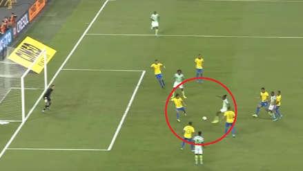 Joe Aribo dejó en ridículo a Marquinhos en el gol de Nigeria ante Brasil