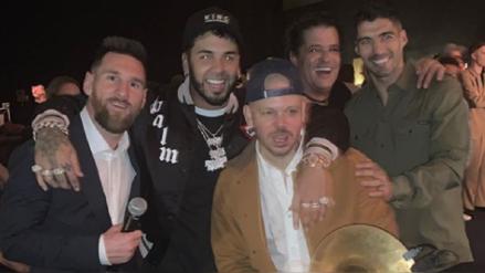 ¡Qué tal rumba! Lionel Messi y Luis Suárez disfrutaron de una gran noche junto a Annuel y Residente