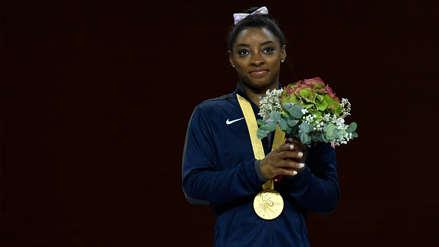 Simone Biles gana el oro en suelo y lleva a 25 su récord de medallas en el Mundial [VIDEO]