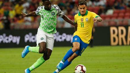 Brasil igualó 1-1 ante Nigeria en amistoso internacional en Singapur
