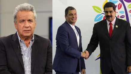 Lenín Moreno acusa a Maduro y Correa de estar tras la