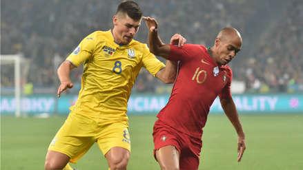 Portugal cayó 2-1 ante Ucrania en el partido que Cristiano Ronaldo llegó a su gol 700