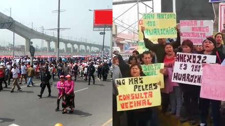 Vecinos y autoridades reclaman soluciones al conflicto limítrofe entre SJL y Huarochirí