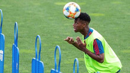 ¡Ya viste de rojo! Así se ve Ansu Fati con la camiseta de la Selección de España