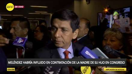 Ministro Meléndez niega haber recomendado contratación de la madre de su hijo en el Congreso [VIDEO]